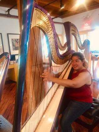 Hug a harp